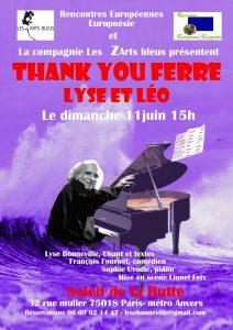 SPECTACLE THANK YOU FERRE -UNE SPECTACLE AUTOUR DE L'OEUVRE DE LEO FERRE