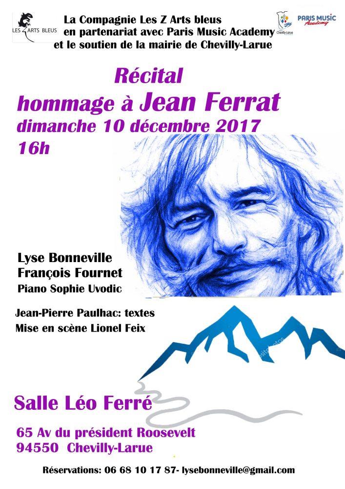 Récital Hommage à Jean Ferrat  le 10 décembre à Chevilly-Larue