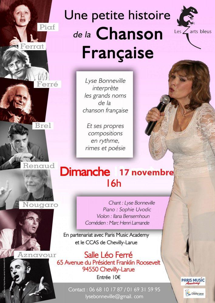 Récital chansons française 17 octobre à Chevilly Larue